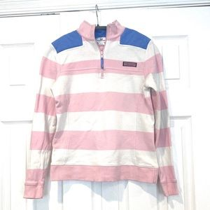 Vineyard Vines Striped Womens Pullover Pink XS
